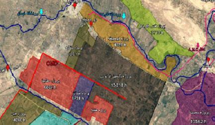 مدیریت طرح های حوضه کرخه جنوبی خوزستان به مساحت 45469 هکتار
