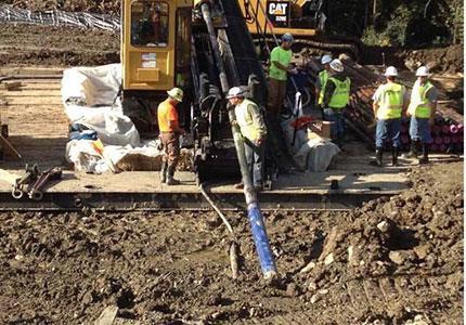 مطالعات مهندسی ژئوتکنیک و طراحی مسیر عبور خطوط لوله 16 اینچ و 32 اینچ گاز از رودخانه رامشیر  HDDبه روش حفاری افقی جهت دار