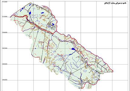 تهیه نقشه 1:2000 محدوده اراضی ناحیه عمرانی 4 دشت آزادگان به مساحت 24000 هکتار