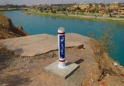 نشانه گذاری حریم و بستر رودخانه های استان خوزستان