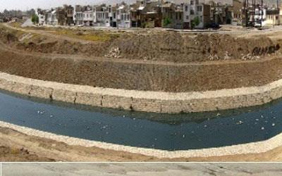 نظارت بر پروژه ساماندهی رودخانه راوند اسلام آباد غرب به طول 7 کیلومتر