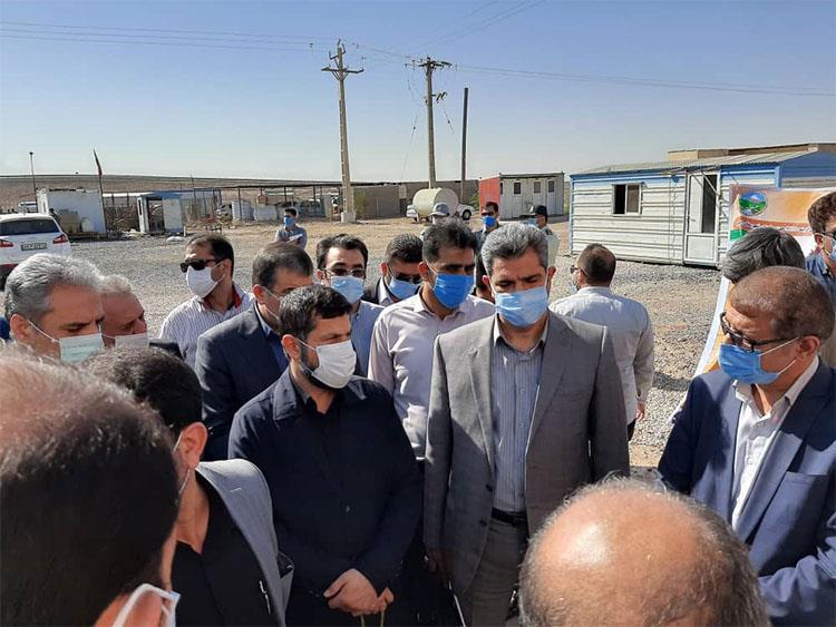 بازدید وزیر محترم جهادکشاورزی از طرح تامین و انتقال آب به کانون های ریزگرد در خوزستان